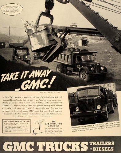 1939 Ad GMC Truck Sanitation LaGuardia Airport NYC - Original Print - Airport Laguardia Images