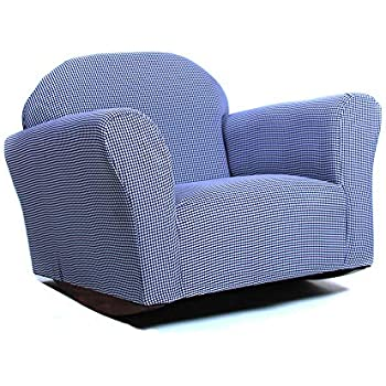 Amazon Com Keet Roundy Rocking Kid S Chair Gingham Navy Baby