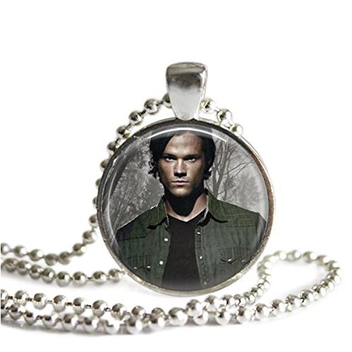 Hunting Winchester - Supernatural Sam Winchester 1 Inch Silver Plated Pendant Necklace