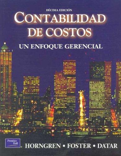 Contabilidad De Costos 10b Edicion Spanish Edition