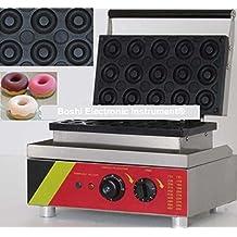 Boshi Electronic Instrument Commerical/Home Use 110V 220V Electric 15pcs Donut Doughnut Machine Maker Iron Baker