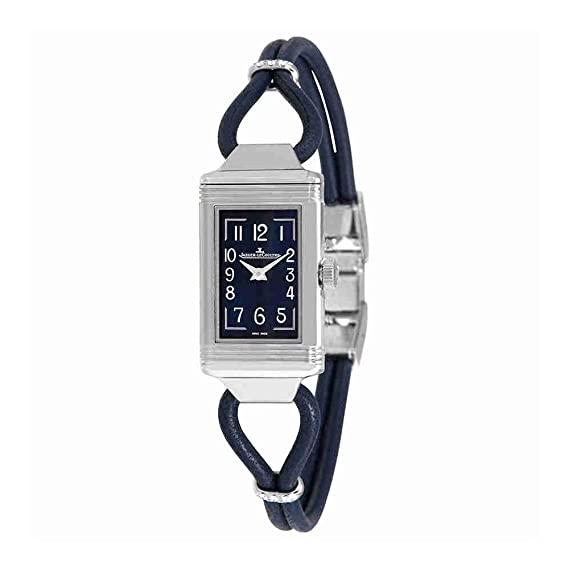 Jaeger LeCoultre Reverso One Cordonnet esfera azul reloj de pulsera para mujer q326858j