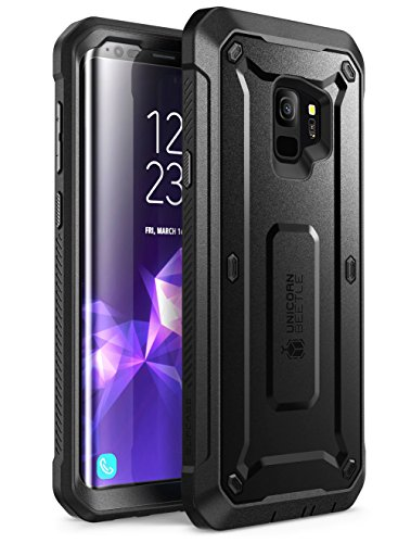 Samsung Galaxy S9 Case, SUPCASE Full-Body Rugged Holster Case with Built-in Screen Protector for Galaxy S9 (2018 Release), Unicorn Beetle PRO Series – Retail Package