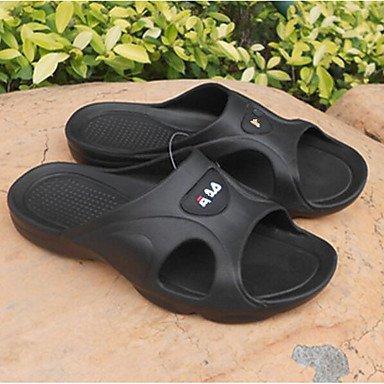 Primavera pantofole e al comfort del PVC Uomo Casual Blu Navy Nero Sandali piatti sandali