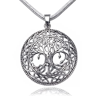 Amazon 925 sterling silver tree of life celtic knot pendant 925 sterling silver tree of life celtic knot pendant on alloy necklace chain 18 inches mozeypictures Image collections