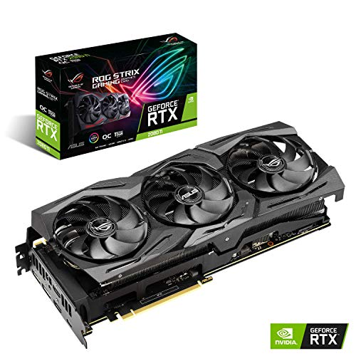 ASUS ROG Strix GeForce RTX 2080TI Overclocked 11G GDDR6 HDMI DP 1.4 USB Type-C Gaming Graphics Card (ROG-STRIX-RTX-2080-O11G)