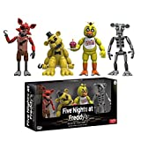 Funko Vinyl Figure Set: Five Nights At Freddy's - Set One w/ Chica / Foxy / Golden Freddy / Animatronic Skeleton NEW
