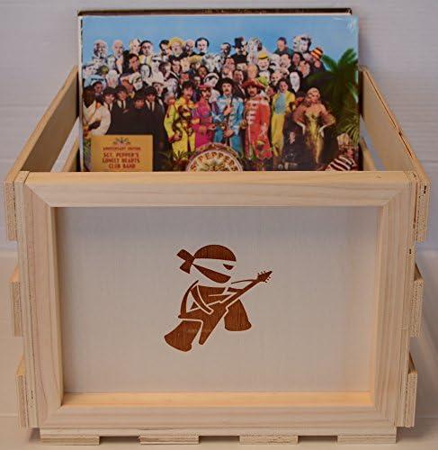 Disco de vinilo LP de madera caja de almacenamiento: Amazon.es ...