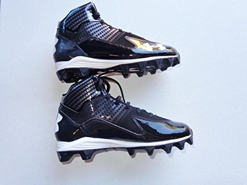 Under Armour Men's UA Hammer Mid D Football Cleats Black ZyPFvqXx