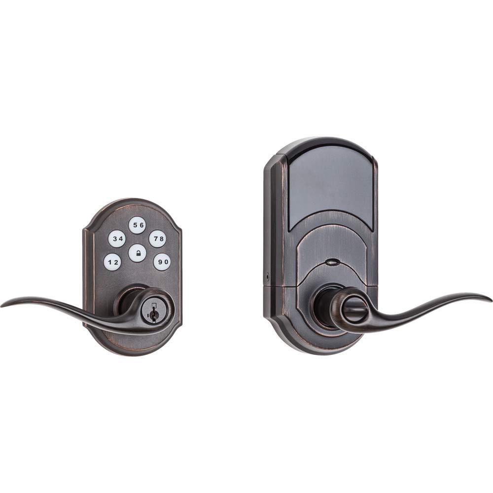 Kwikset 99120-038 SmartCode 912 Z-Wave Plus Leverset, Venetian Bronze