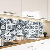 "Alwayspon Vinyl Floor Wall Tiles Sticker, Waterproof Non-slip Splashback Tiles Decal for Kitchen Bathroom, Self-adhesive Peel and Stick PVC DIY Home Decor, 23.6x47.2""/60x120cm, 1 Pcs"