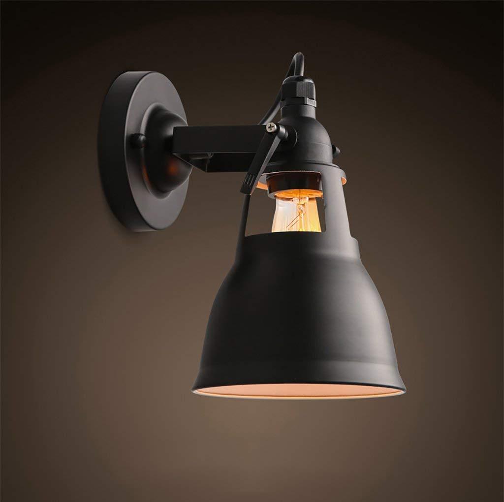 Wand Lampe hohlen Bügeleisen kreative Retro Strahler Wandleuchten Treppen Korridor Dekorative Leuchten (Farbe  Schwarz)