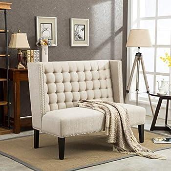 Amazon Com Modern Loveseat Settee Button Tufted Sofa
