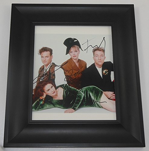 the-b-52s-cosmic-thing-love-shack-group-signed-autographed-8x10-glossy-photo-gallery-framed-loa