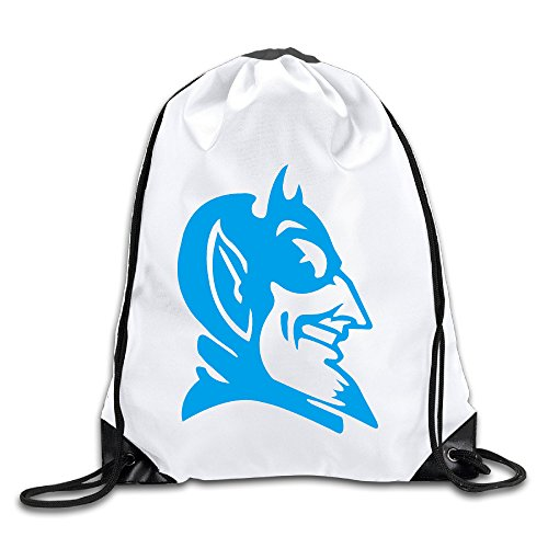 BYDHX Duke Blue Devils Logo Drawstring Backpack Bag White - Duke Blue Devils Gym Bag