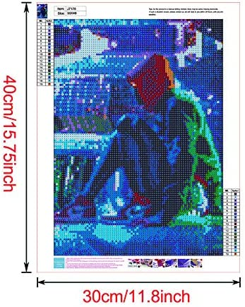 DIY 5D Diamond Painting by Number Kit,The Avengers Crystal Rhinestone Embroidery Cross Stitch Arts Craft Canvas Wall Decor 16X12 Inch Full Drill