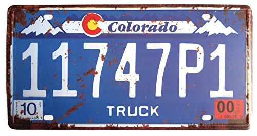 ERLOOD Colorado 11747P1 Retro Vintage Home,Bathroom and Bar Wall Decor Car Vehicle Auto License Plate Tin Sign Embossed Tag Size Home Pub Bar Decor 6 X - Tag Plate License Colorado