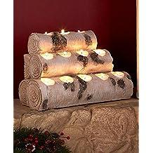 12 Tea Log Woodland Tree Stump Logs Tea Light Candleholders Mantel Fireplace New ,,#G434G14 1T4G3484TYG429069