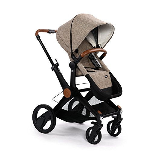 Babysing X-GO Reversible Dragging Luxury High-view Infant Stroller With Bassinet (khaki)
