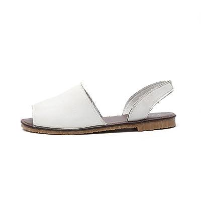 AmazingDays Femme Sandales Chaussures Cheville Mode Poisson Bouche Espadrilles Summer Chunky Chaussures de Vacances Sandales Plates