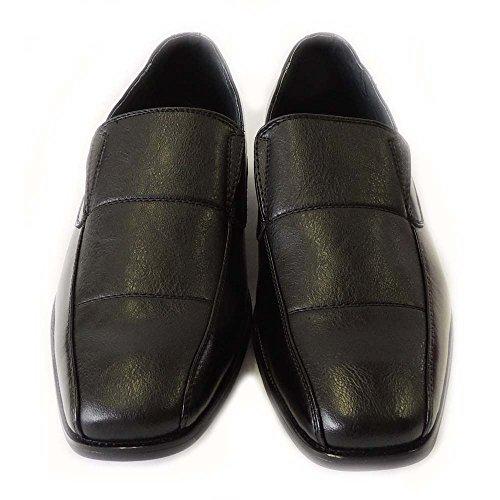 Nieuwe, Met Ferrillokleurige Herenlaarzen Gevoerde Dress-schoenen Instappers Glijden Op Comfortvrije Schoen Hoorn-mfa19332black