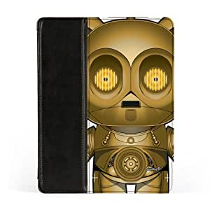 C3PO 2 Premium Faux PU Leather Case, Protective Hard Cover Flip Case for Apple? iPad 2 / 3 and iPad 4 by Gangtoyz + FREE Crystal Clear Screen Protector