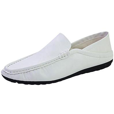 18a47398bc2 wealsex Mocassins Cuir Homme Chaussure Bateau Cuir Soupe Derby Chaussure  Ville Décontracté Confort Conduite