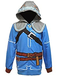 Legend of Zelda Breath of the Wild Suit Up Men's Cosplay Hoodie, Large