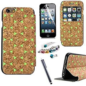 SHOUJIKE iPhone 6 compatible Novelty Case with Kickstand/Shatter-Resistant Case , Green