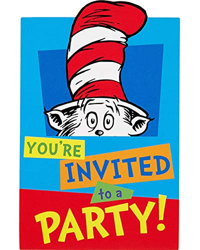 'Amscan Dr. Seuss Invitations, Includes Paper Cards, Envelopes