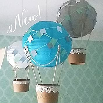 Amazon Com Whimsical Hot Air Balloon Diy Kit Nursery Decoration