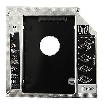 SODIAL(R) Caliente venta Universal Aluminio 12.7mm SATA 2.0 2o Caddy HDD 2.5