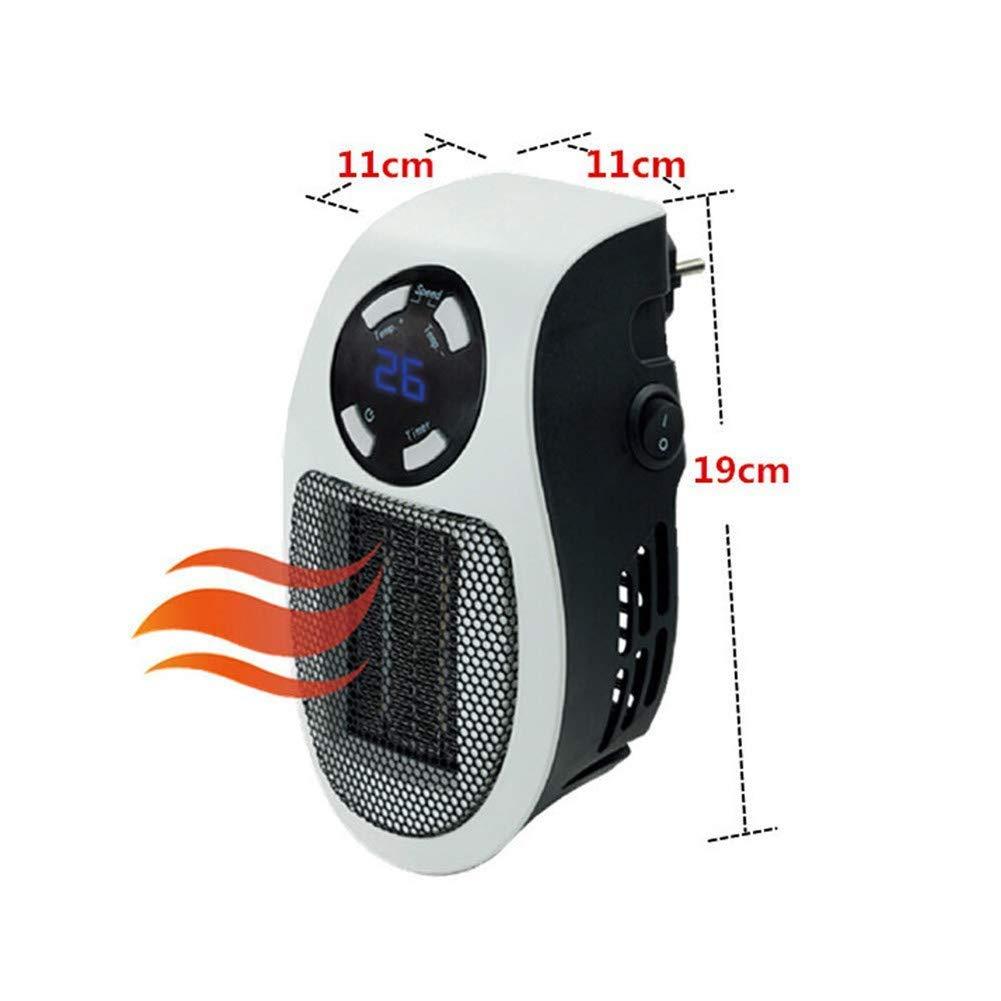 Nifogo Mini Heater Estufa Eléctrica - Calentador Portátil de Bajo Consumo, 500W con Termostato Ajustable Tiempo Programable de 12 Horas para Hogar ...