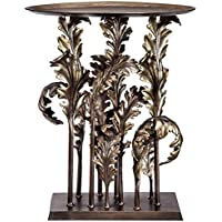 Viridian Bay Sienna Collection Acanthus Leaves Accent Table (Bronze Finish)