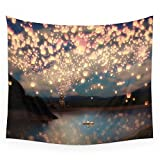 "Society6 Love Wish Lanterns Wall Tapestry Medium: 68"" x 80"" offers"