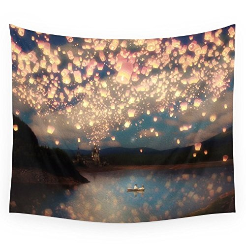 Society6 Love Wish Lanterns Wall Tapestry Small: 51