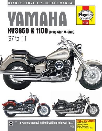 Yamaha XVS650 & 1100 (Drag Star, V-Star) '97 to '11 (Haynes Service & Repair Manual)