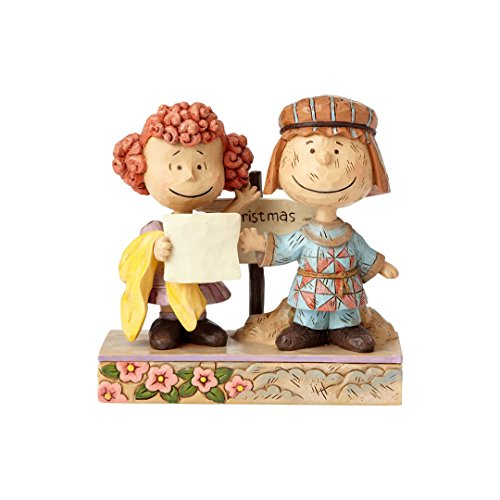 "Enesco Peanuts by Jim Shore Pig Pen and Frieda Stone Resin Figurine, 4.625"" (Pig Stone)"