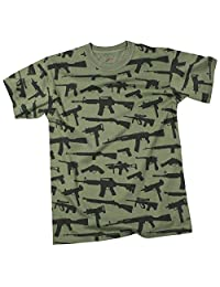Rothco T-Shirt with Multi-Print Guns in Olive Drab