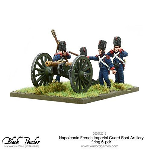Black Powder: Napoleonic French Imperial Guard Foot Artillery firing 6-pdr