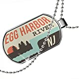 NEONBLOND Dogtag USA Rivers Little Egg Harbor River Jersey Dog Tags Necklace