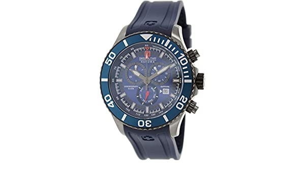 Amazon.com: Swiss Military Hanowa Mens 06-4226-30-003-03 Blue Rubber Swiss Quartz Watch with Blue Dial: Swiss Military Hanowa: Watches