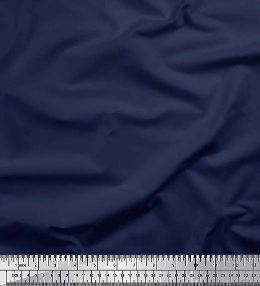 Soimoi Azul terciopelo Tela dril de algodón azul color de tono ...