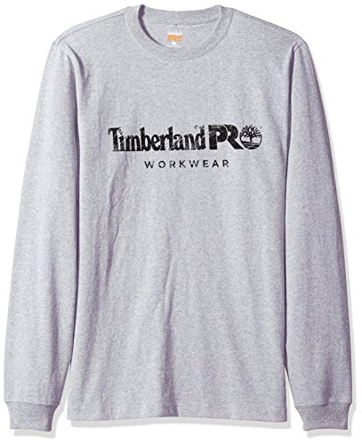 Sleeve Shirt Long Core (Timberland PRO Men's Cotton Core Long-Sleeve T-Shirt, Light Grey Heather, X-Large)