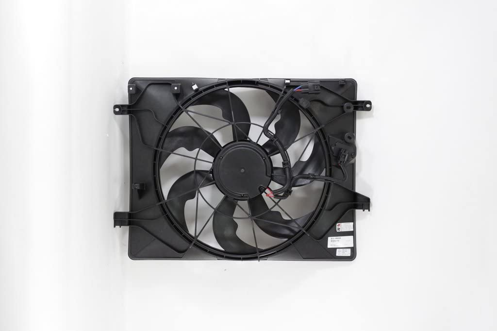 Dual Radiator and Condenser Fan Assembly - Cooling Direct For/Fit HY3115148 13-16 Hyundai Genesis Coupe 3.8L V6