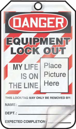 Accuform MLT603LPP Self-Laminating Lockout Tag, Legend