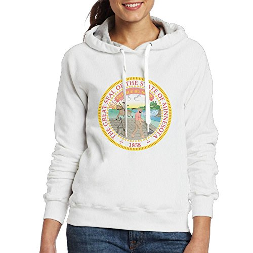 Spirit Halloween Army Costumes (Minnesota State Emblem Hooded Sweashirt Novelty Pullover Hoodie For Girls Large White)