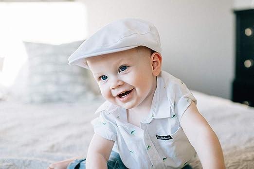Born to Love Newborn Toddler White Baptism Scally Cap Baby Christening Hat Jeff Driver Cap