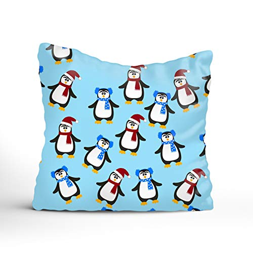 (Fornate 100% Cotton Bed Bug, Dust Mite & Allergy Control Pillow Protector - Standard Cute Christmas Penguin)