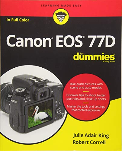 Get pro results from your 77D! The Canon EOS 77D puts features from higher-end cameras into a model designed for amateur photographers—and that's good news for you! Even better, Canon EOS 77D For Dummies makes it easier than ever to start producing p...